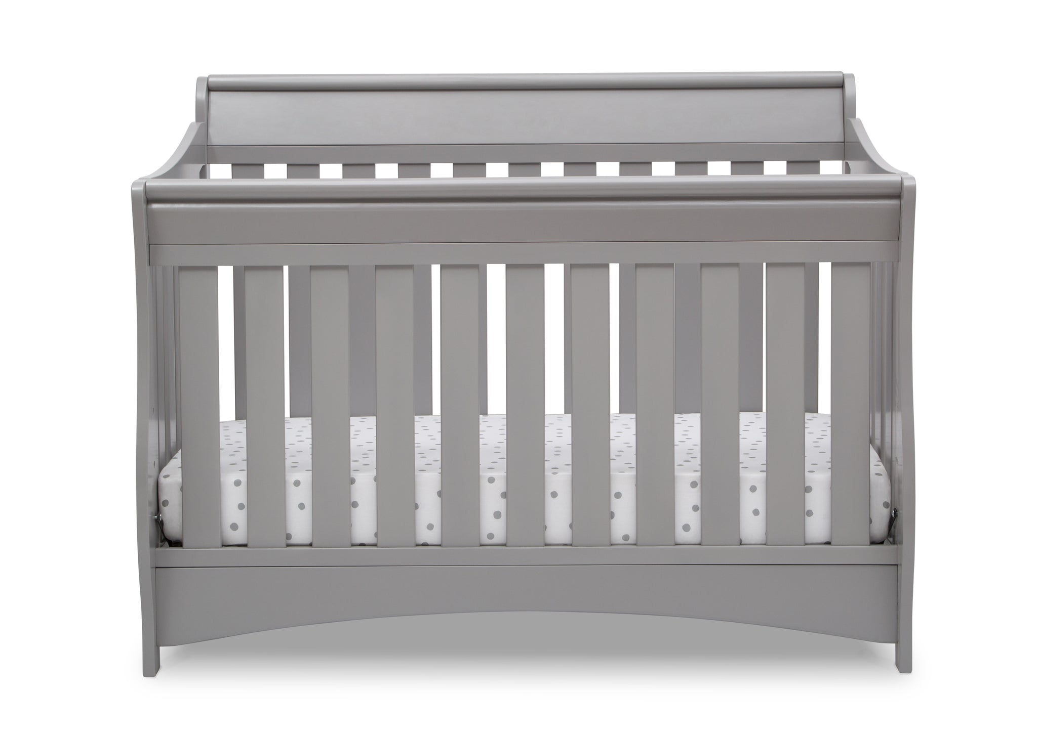Delta Children Grey (026) Bentley S Series Deluxe 6-in-1 Convertible Crib, Front Crib Silo View