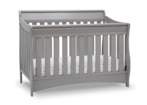 Delta Children Grey (026) Bentley S Series Deluxe 6-in-1 Convertible Crib, Right Crib Silo View