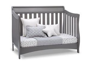 Delta Children Grey (026) Bentley S Series Deluxe 6-in-1 Convertible Crib, Right Day Bed Silo View