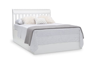 Delta Children Bianca White (130) Bentley S Series Deluxe 6-in-1 Convertible Crib, Right Full Bed with Headboard Silo View
