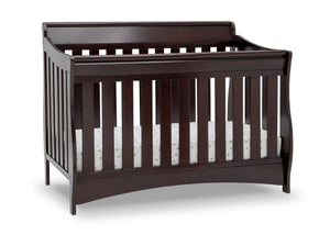 Delta Children Dark Chocolate (207) Bentley S Series Deluxe 6-in-1 Convertible Crib, Right Crib Silo View