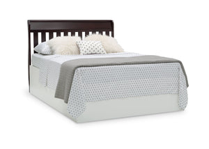 Delta Children Dark Chocolate (207) Bentley S Series Deluxe 6-in-1 Convertible Crib, Right Toddler Bed with Headboard Silo View