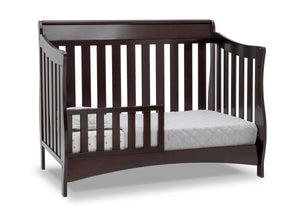 Delta Children Dark Chocolate (207) Bentley S Series Deluxe 6-in-1 Convertible Crib, Right Toddler Bed Silo View