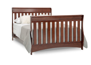 Delta Children Black Cherry Espresso (607) Bentley S Series Deluxe 6-in-1 Convertible Crib, Right Toddler Bed with Headboard and FootboardSilo View