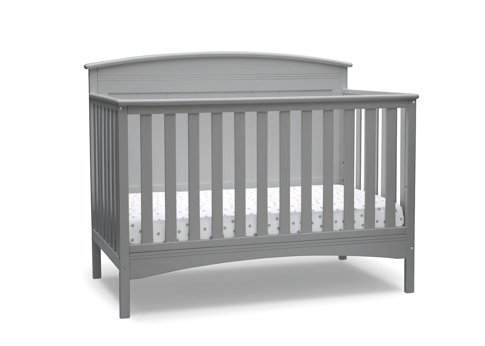 Delta Children Grey (026) Archer Deluxe 6-in-1 Convertible Crib, Right Crib Silo View