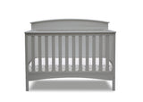 Delta Children Grey (026) Archer Deluxe 6-in-1 Convertible Crib, Front Crib Silo View
