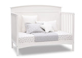 Delta Children Bianca White (130) Archer Deluxe 6-in-1 Convertible Crib, Right Day Bed Silo View