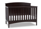 Delta Children Dark Chocolate (207) Archer Deluxe 6-in-1 Convertible Crib, Right Crib Silo View