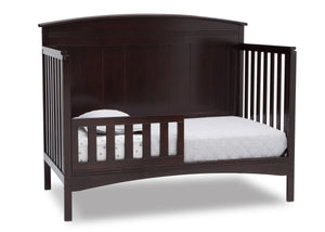 Delta Children Dark Chocolate (207) Archer Deluxe 6-in-1 Convertible Crib, Right Toddler Bed Silo View