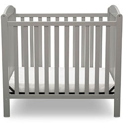 Brooklyn 2-in-1 Mini Crib, Grey