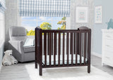 Mini Crib with Mattress (Dark Chocolate) - Bundle