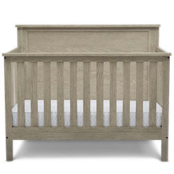 Middleton 4-in-1 Convertible Baby Crib (Textured Limestone) - bundle