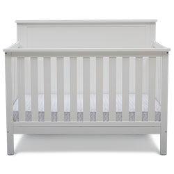 Middleton 4-in-1 Convertible Baby Crib (Textured White)