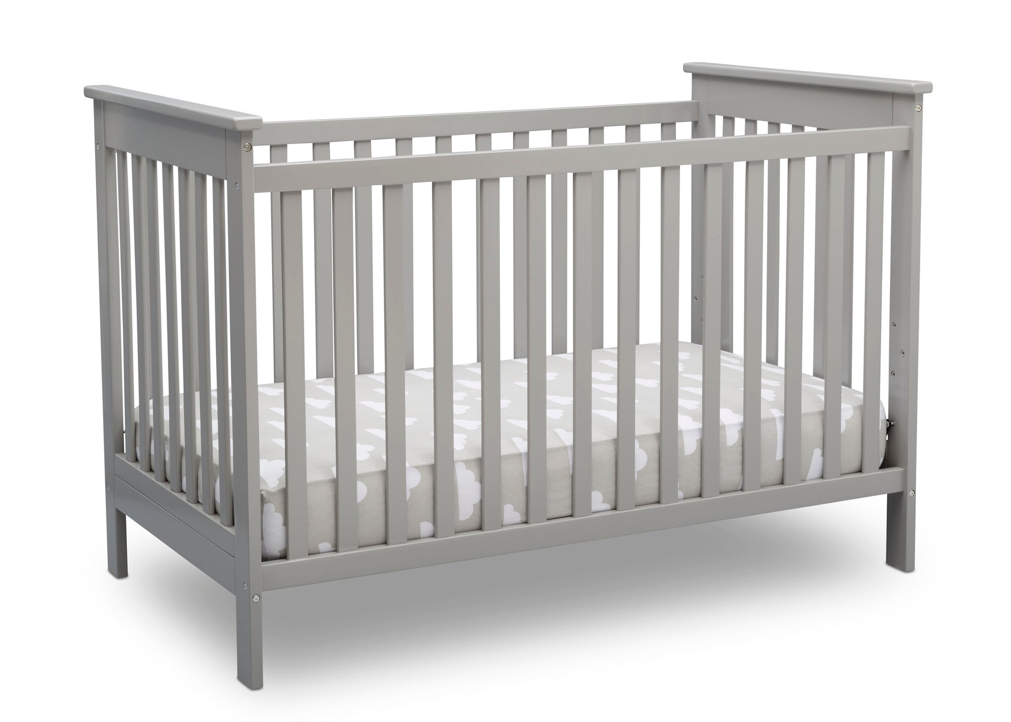 Delta Children Grey (026) Adley 3-in-1 Crib (W102130) Right Silo a3a