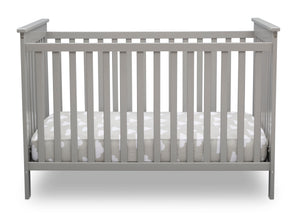 Delta Children Grey (026) Adley 3-in-1 Crib (W102130) Front Silo a2a