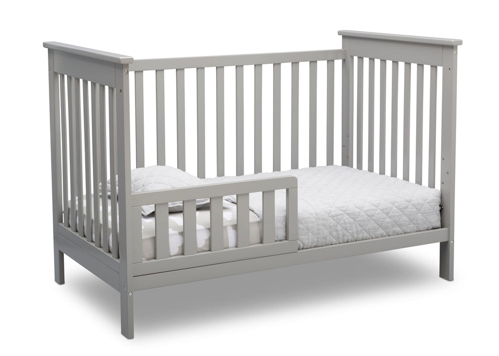 Delta Children Grey (026) Adley 3-in-1 Crib (W102130) Toddler Bed a4a