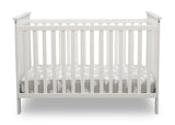 Delta Children Bianca White (130) Adley 3-in-1 Crib (W102130) Front Silo b2b