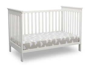 Delta Children Bianca White (130) Adley 3-in-1 Crib (W102130) Daybed conversion b5b