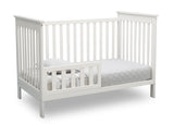 Delta Children Bianca White (130) Adley 3-in-1 Crib (W102130) Toddler Bed b4b
