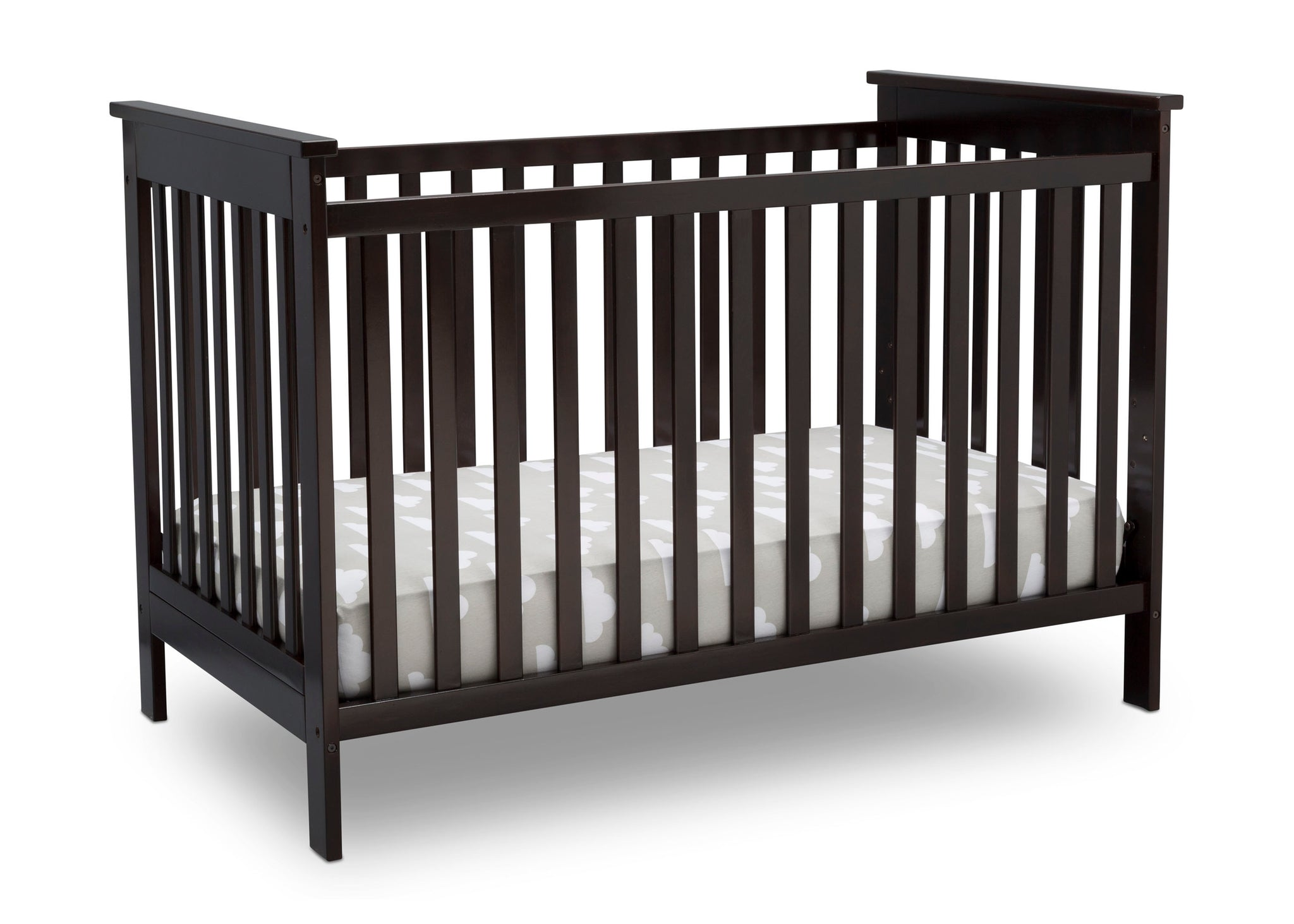 Delta Children Dark Chocolate (207) Adley 3-in-1 Crib (W102130) Right Silo c3c