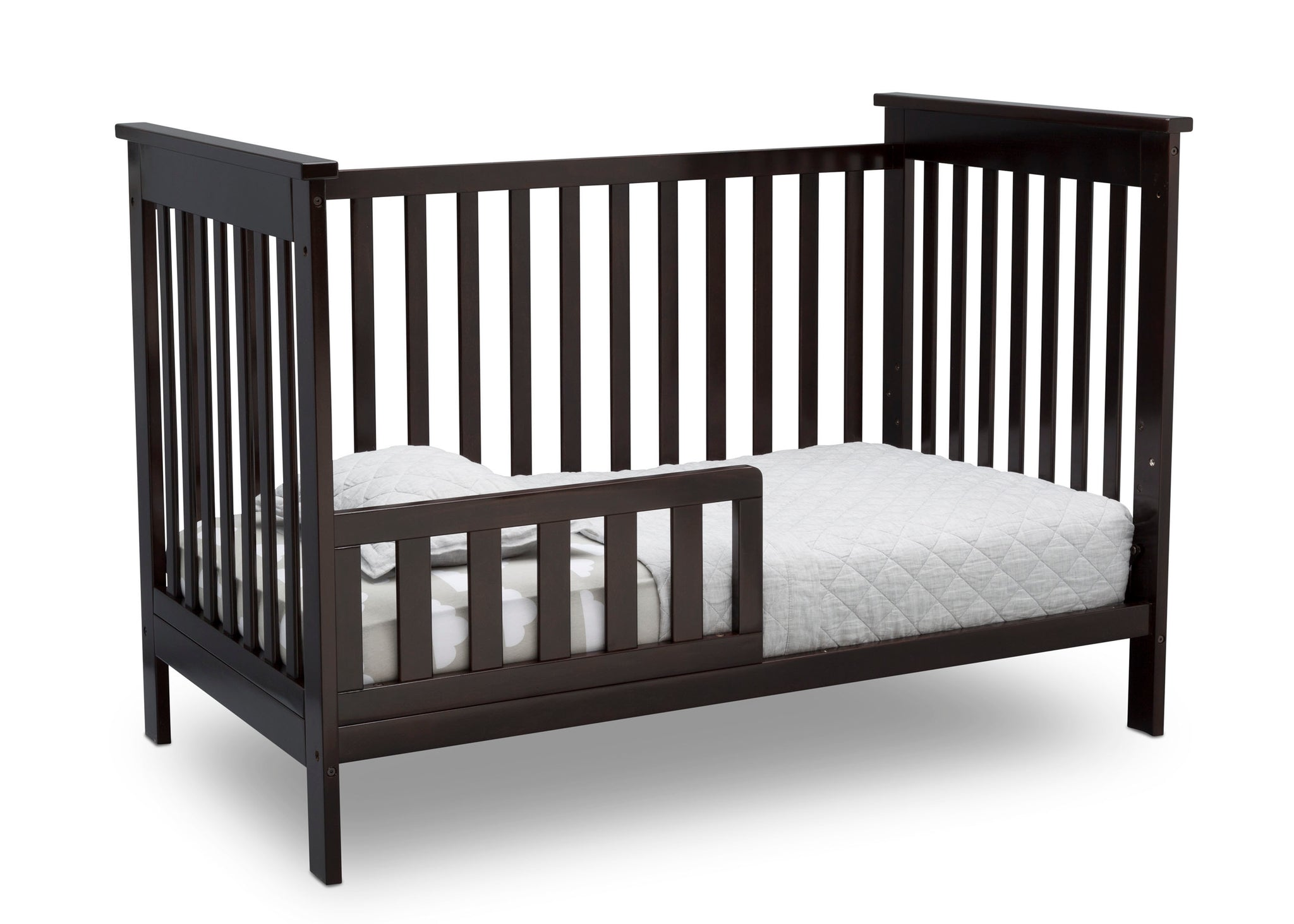 Delta Children Dark Chocolate (207) Adley 3-in-1 Crib (W102130) Toddler Bed c4c