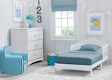 Delta Children Bianca White (130) Homestead Toddler Bed Room View