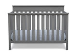 Delta Children Grey (026) Kingswood 4-in-1 Convertible Baby Crib Front Crib Silo View