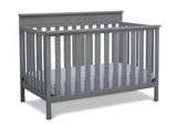 Delta Children Grey (026) Kingswood 4-in-1 Convertible Baby Crib Right Crib Silo View