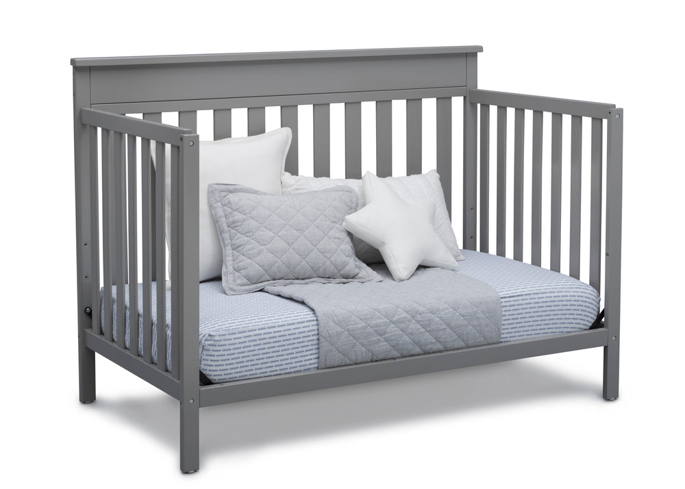 Delta Children Grey (026) Kingswood 4-in-1 Convertible Baby Crib Day Bed Silo View