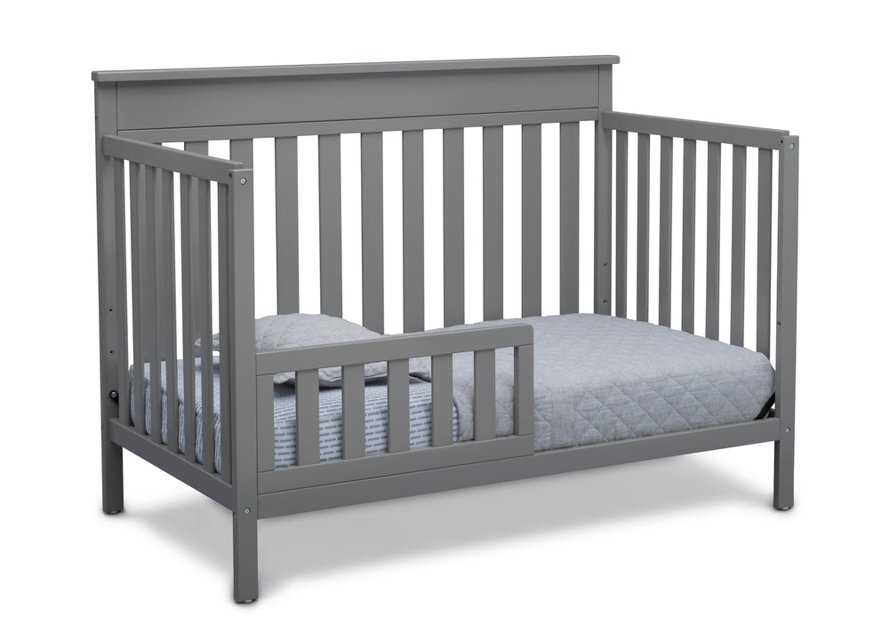 Delta Children Grey (026) Kingswood 4-in-1 Convertible Baby Crib Toddler Bed Silo View