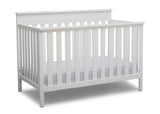 Delta Children Bianca White (130) Kingswood 4-in-1 Convertible Baby Crib Right Crib Silo View
