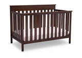 Delta Children Walnut Espresso (1324) Kingswood 4-in-1 Convertible Baby Crib Right Crib Silo View