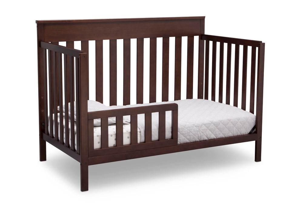 Delta Children Walnut Espresso (1324) Kingswood 4-in-1 Convertible Baby Crib Toddler Bed Silo View