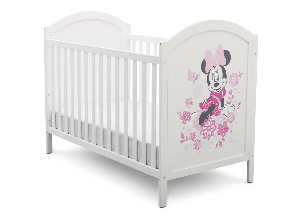 Disney Bianca White with Minnie (1302) Minnie Mouse 4-in-1 Convertible Crib by Delta Children, Detail View