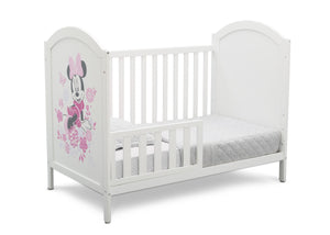 Disney Bianca White with Minnie Mouse (1302) Minnie Mouse 4-in-1 Convertible Crib by Delta Children, Toddler Bed Silo View