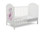 Disney Bianca White with Minnie (1302) Minnie Mouse 4-in-1 Convertible Crib by Delta Children, Toddler Bed Silo View