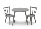 Delta Children Grey (026) Homestead Table and Chair Set, Front Silo View
