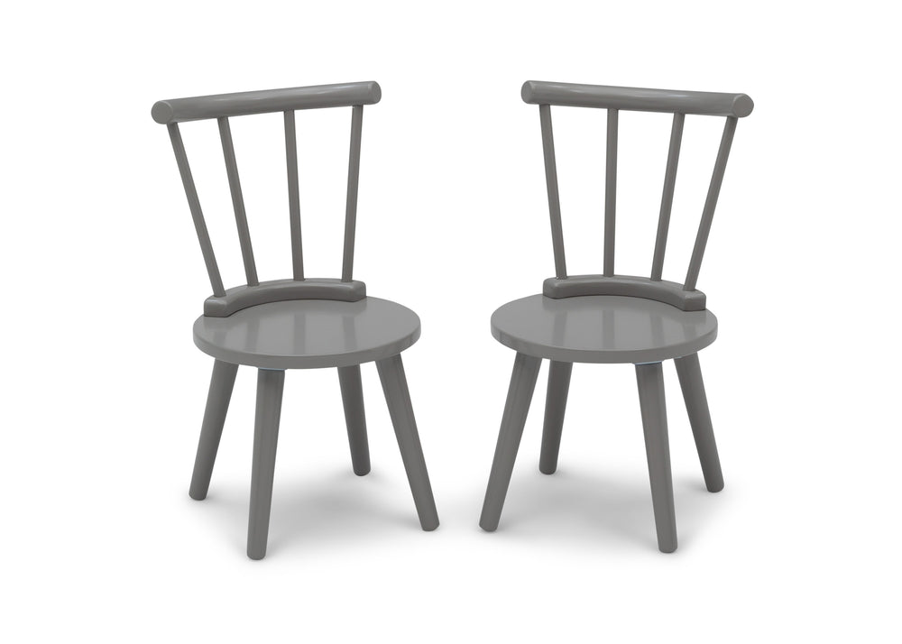 Delta Children Grey (026) Homestead 2-Piece Chair Set, Front Silo View