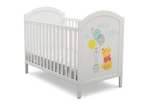 Delta Children Bianca White with Pooh (1301) 4-in-1 Convertible Crib, Side View