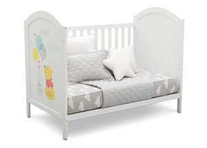 Delta Children Bianca White with Pooh (1301) Winnie The Pooh 4-in-1 Convertible Crib, Day Bed Silo View 1