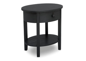 Delta Children Textured Midnight Grey (1347) Farmhouse Nightstand with Drawer, Right Silo View