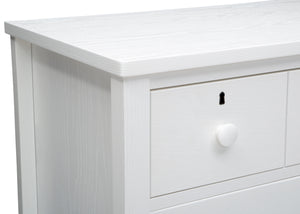 Delta Children Textured White (1349) Farmhouse 3 Drawer Dresser with Changing Top, Hangtag View