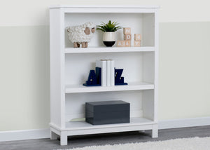 Delta Children Textured White (1349) Farmhouse Bookcase/Hutch