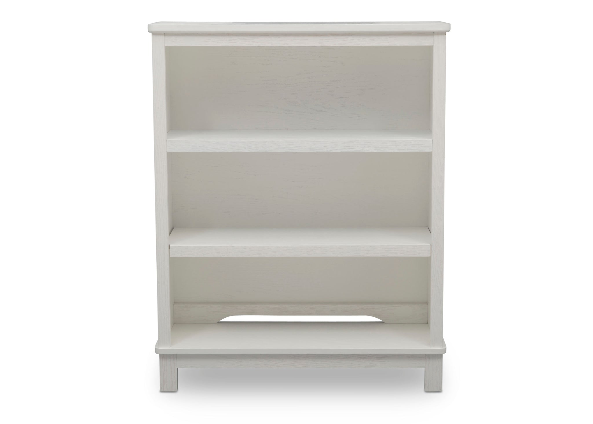 Delta Children Textured White (1349) Farmhouse Bookcase/Hutch, Front Silo View