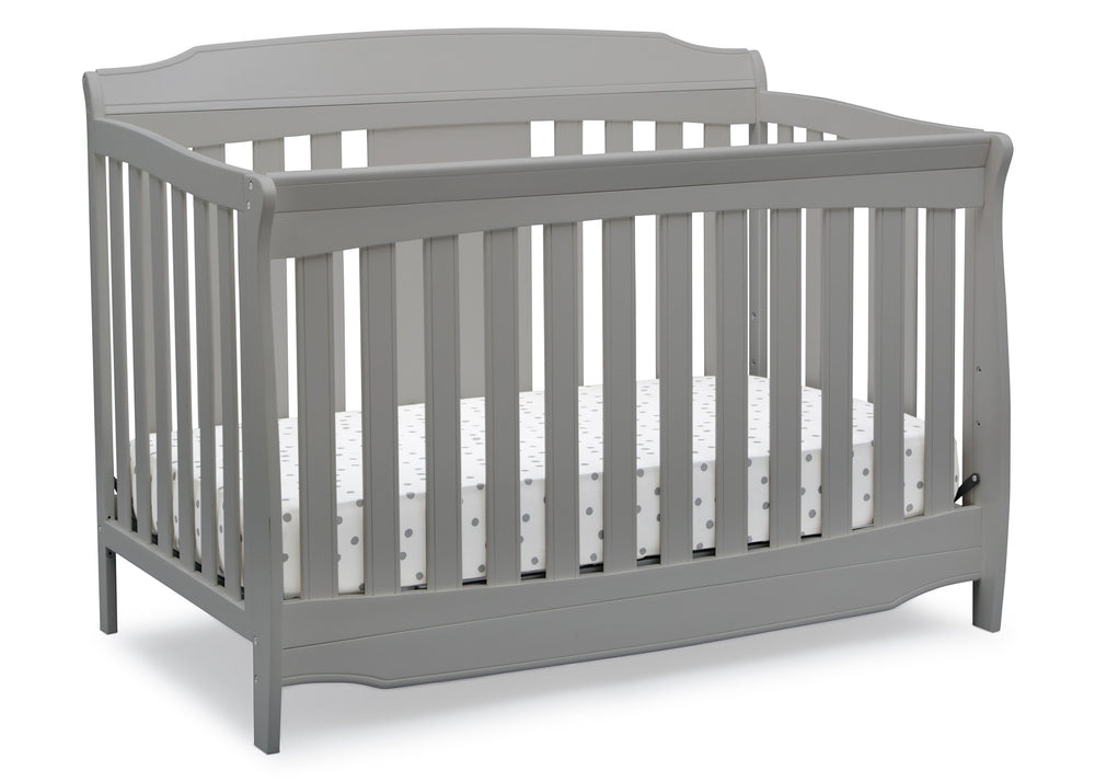 Delta Children Grey (026) Westminster 6-in-1 Convertible Crib, Right Crib Silo View