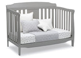 Delta Children Grey (026) Westminster 6-in-1 Convertible Crib, Right Day Bed Silo View