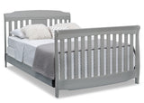 Delta Children Grey (026) Westminster 6-in-1 Convertible Crib, Right Full Bed Silo View