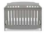 Delta Children Grey (026) Westminster 6-in-1 Convertible Crib, Front Crib Silo View