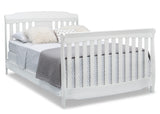 Delta Children Bianca White (130) Westminster 6-in-1 Convertible Crib, Right Full Bed Silo View