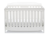 Delta Children Bianca White (130) Westminster 6-in-1 Convertible Crib, Front Crib Silo View
